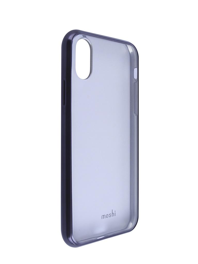 Купить Аксессуар Чехол Moshi для APPLE iPhone X / XS Vitros Raven Black 99MO103031