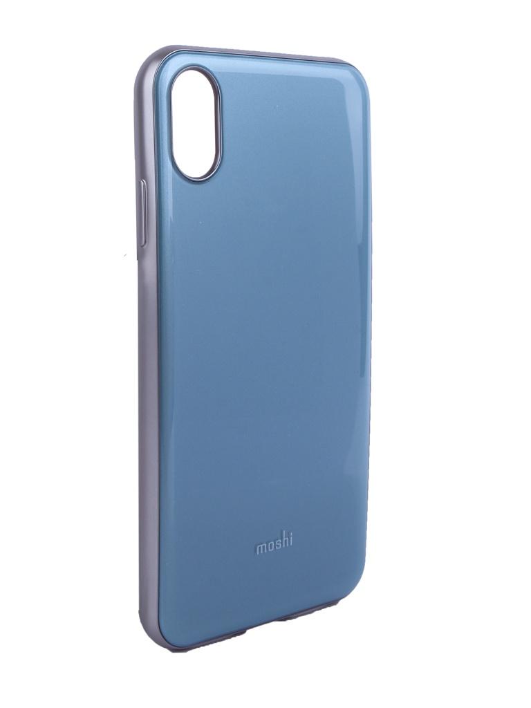 Чехол Moshi для APPLE iPhone XS Max iGlaze Blue 99MO113632
