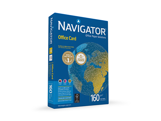 onlime card Бумага Navigator Paper Office Card A4 160g/m2 250 листов