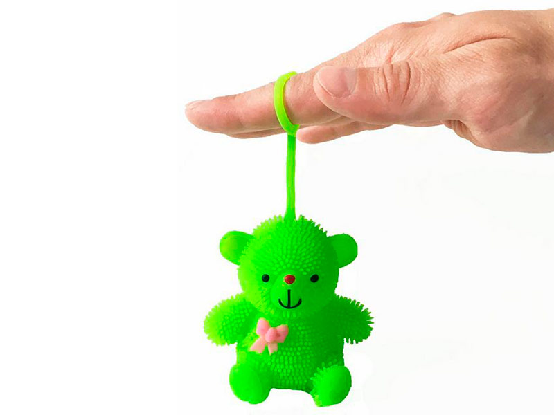 игрушка азбукварик мишка косолапый 4680019281858 Игрушка антистресс Good Mood Мишка Йо-Йо А3135 Green-lime