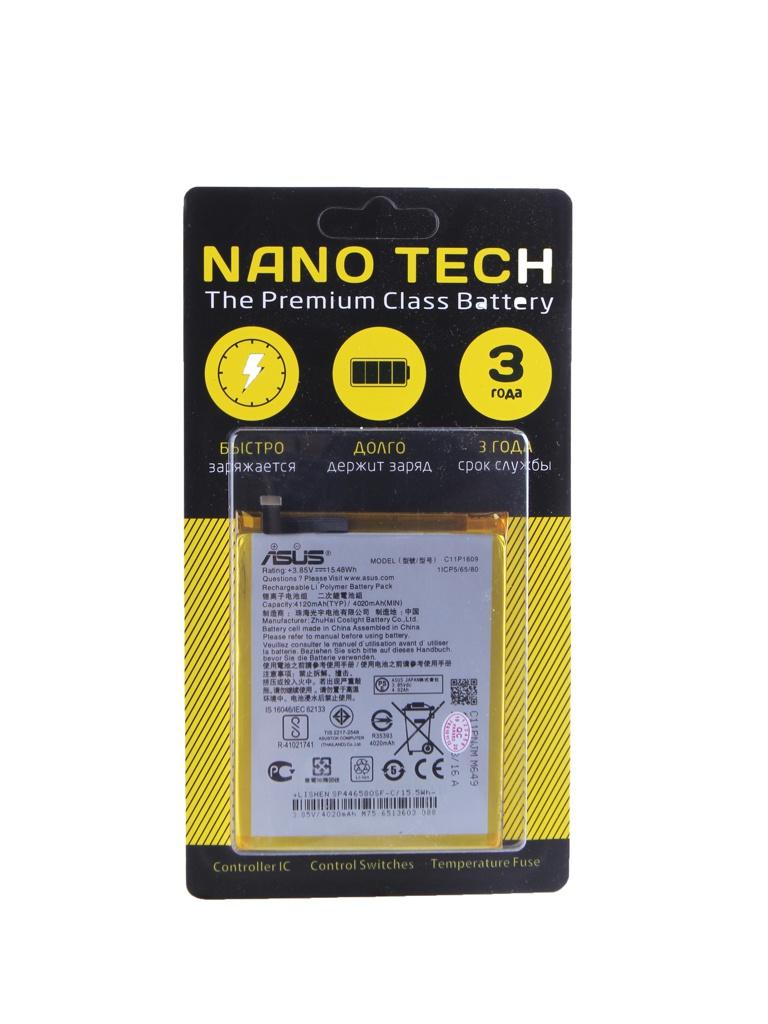 zenfone go zb500kg 8 гб Аккумулятор Nano Tech (схожий с C11P1609) 4120mAh для Asus ZenFone 3 Max / Zenfone 4 Max