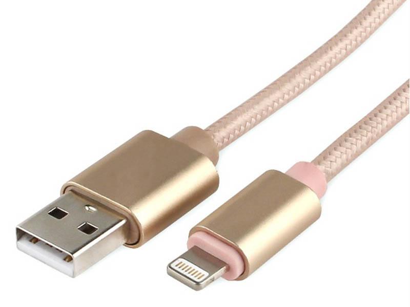 Купить Аксессуар Gembird Cablexpert Ultra AM/Lightning 3m Gold CC-U-APUSB02Gd-3M