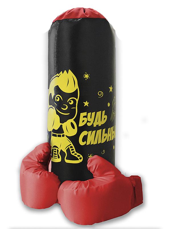 нелопающиеся мыльные пузыри с перчатками Набор для бокса Belon Груша малая с перчатками Black НБ-009-Ч/НПР1