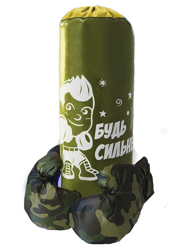 нелопающиеся мыльные пузыри с перчатками Набор для бокса Belon Груша малая с перчатками Khaki НБ-009-В/НПР1