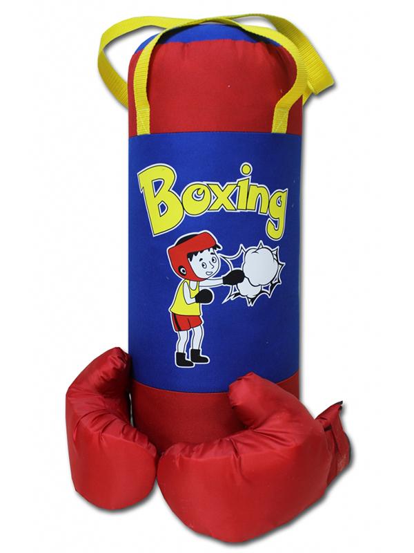 нелопающиеся мыльные пузыри с перчатками Набор для бокса Belon Груша с перчатками Red-Blue BOXING НБ-002-КрС/ПР2