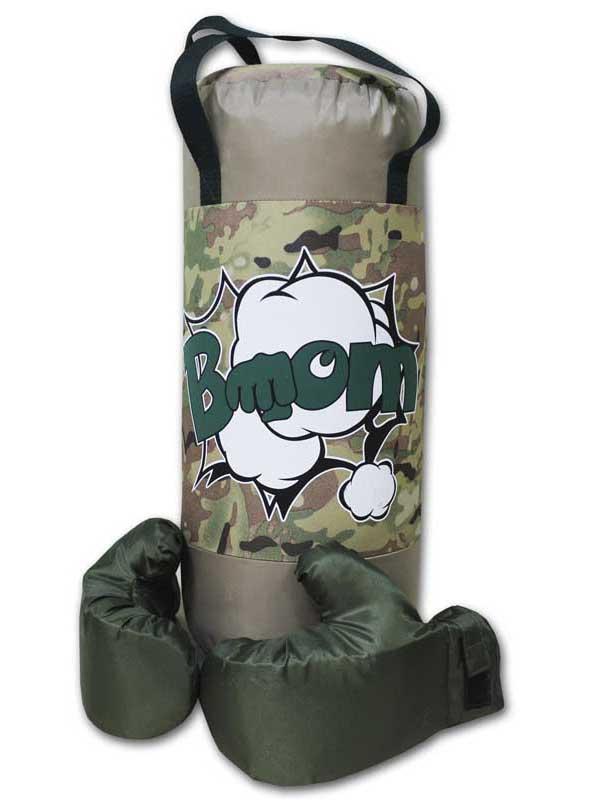 нелопающиеся мыльные пузыри с перчатками Набор для бокса Belon Груша с перчатками Camouflage-Beige BOOM НБ-002-КБ/ПР1