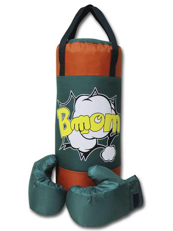 нелопающиеся мыльные пузыри с перчатками Набор для бокса Belon Груша с перчатками Green-Orange BOOM НБ-002-ЗО/ПР1