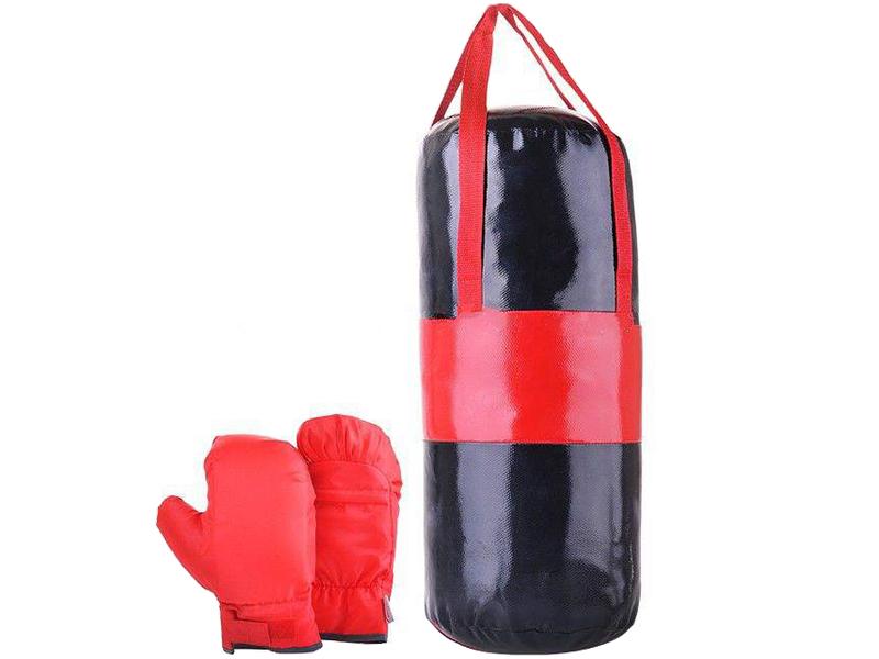 нелопающиеся мыльные пузыри с перчатками Набор для бокса Belon Груша с перчатками Black-Red НБ-001-ЧК