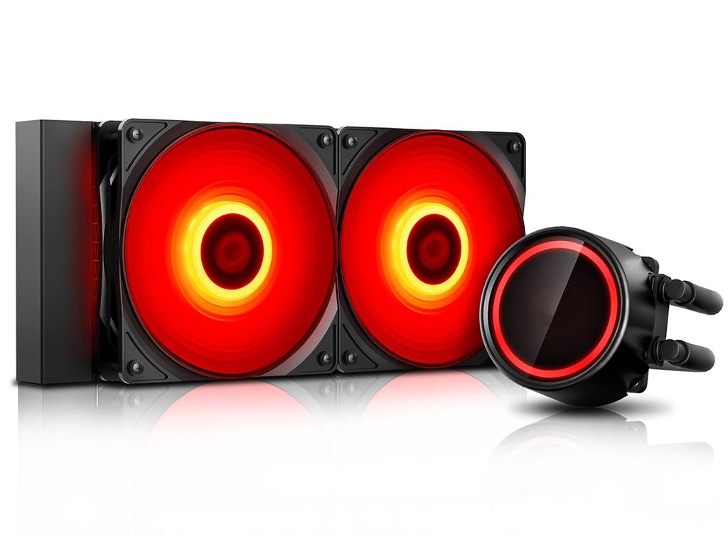 Водяное охлаждение DeepCool Gammaxx L240T Red (Intel LGA20XX/LGA1366/LGA115X AMD AM4/AM3+/AM2+/FM+)