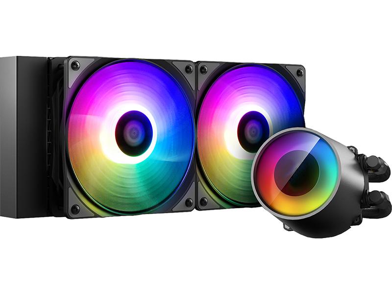 Водяное охлаждение DeepCool Castle 240RGB V2 (Intel LGA20XX/LGA1366/LGA115X AMD TR4/AM+/FM+)