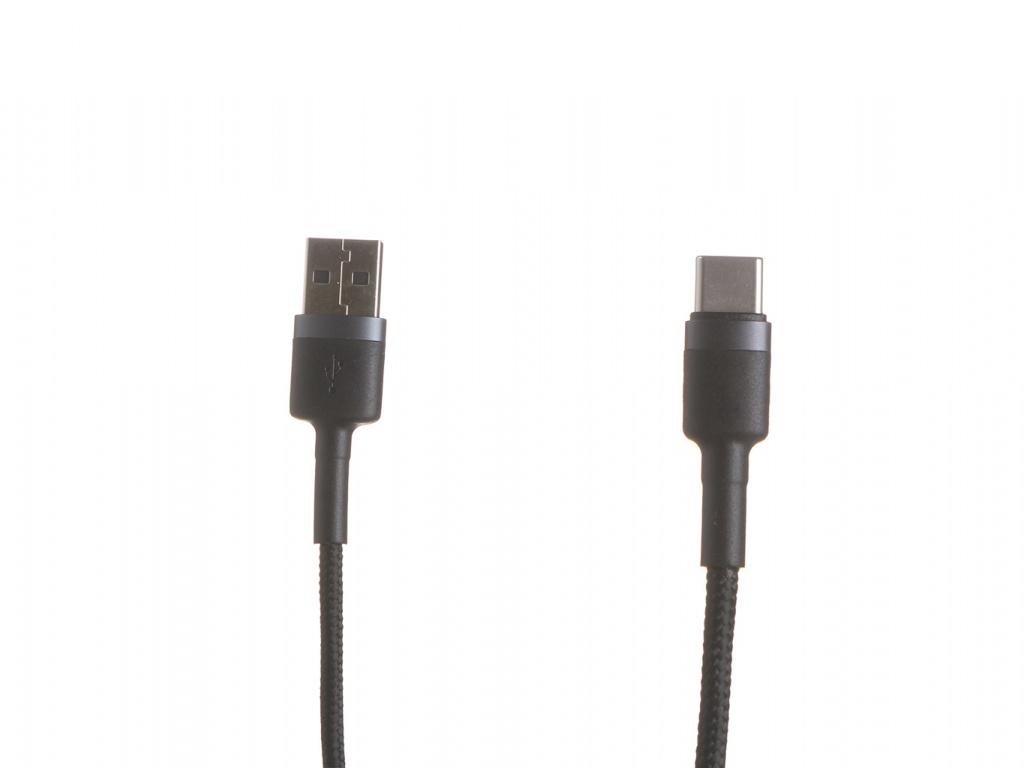 Фото - Аксессуар Baseus Cafule USB - USB Type-C 3A 1m Gray-Black CATKLF-BG1 аксессуар baseus tungsten gold usb type c usb type c 1m black catwj 01