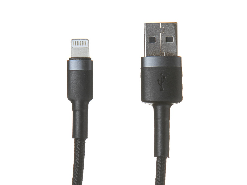 Фото - Аксессуар Baseus Cafule Special Edition USB - Lightning 2.4A 1m Grey-Black CALKLF-BG1 аксессуар baseus glowing usb lightning blaсk callg 01