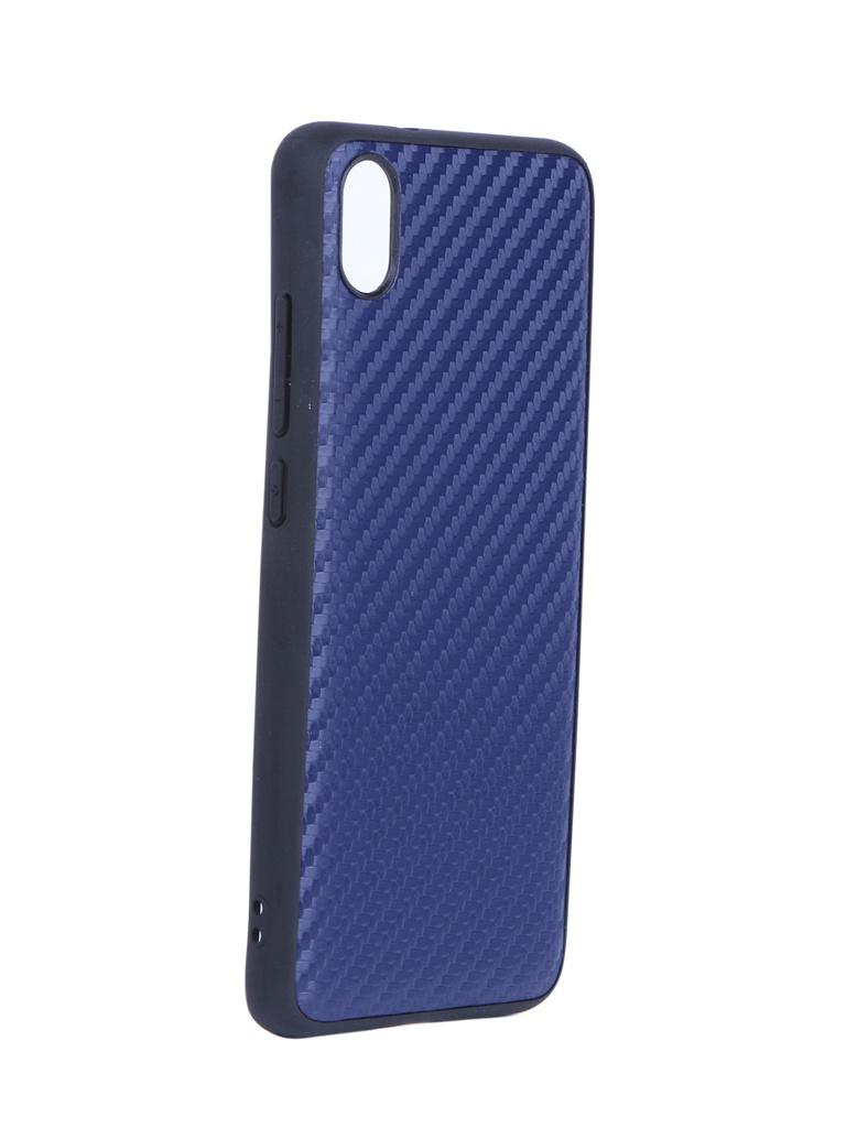 Купить Аксессуар Чехол G-Case для Xiaomi Redmi 7A Carbon Dark Blue GG-1116