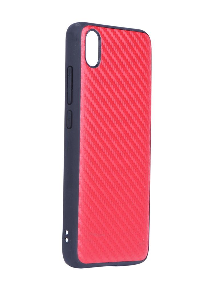 Купить Аксессуар Чехол G-Case для Xiaomi Redmi 7A Carbon Red GG-1115