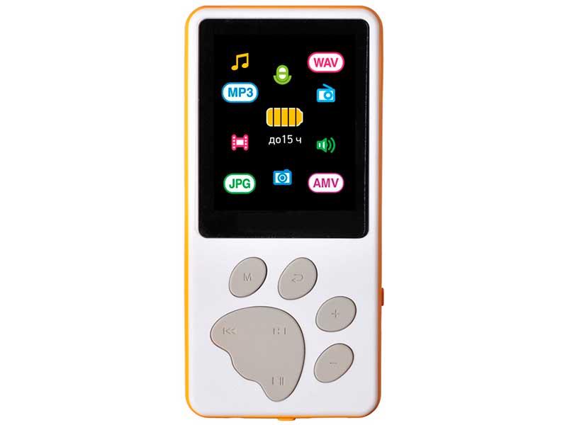 Купить Плеер Digma S4 8Gb White-Orange