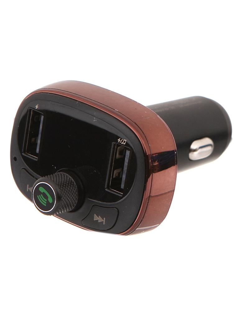 FM-Трансмиттер Baseus T Typed Bluetooth MP3 Charger With Car Holder Dark Coffee CCALL-TM12