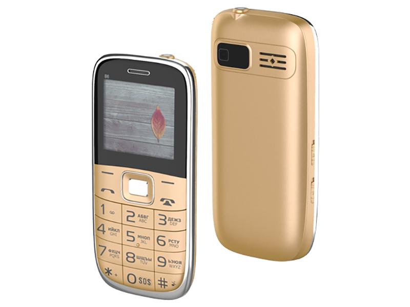 Купить Сотовый телефон MAXVI B6 Gold