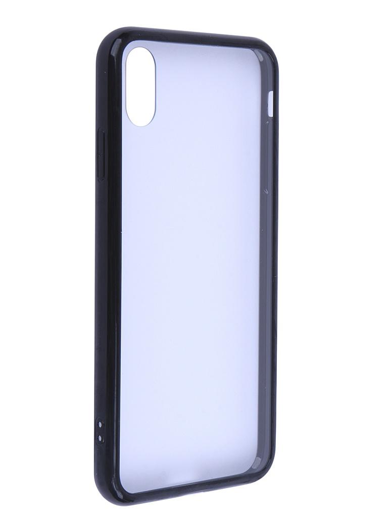 Купить Аксессуар Чехол Liberty Project для APPLE iPhone Xs Max Glass Case Transparent-Black Frame 0L-00041890