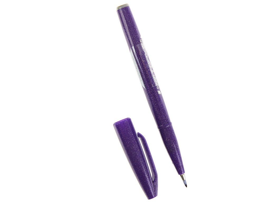 Купить Фломастер-кисть Pentel Brush Sign Pen Purple SES15C-V