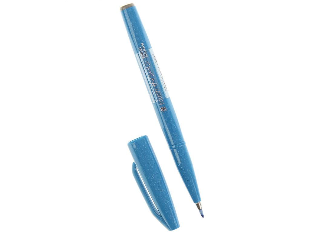 Купить Фломастер-кисть Pentel Brush Sign Pen Light Blue SES15C-S
