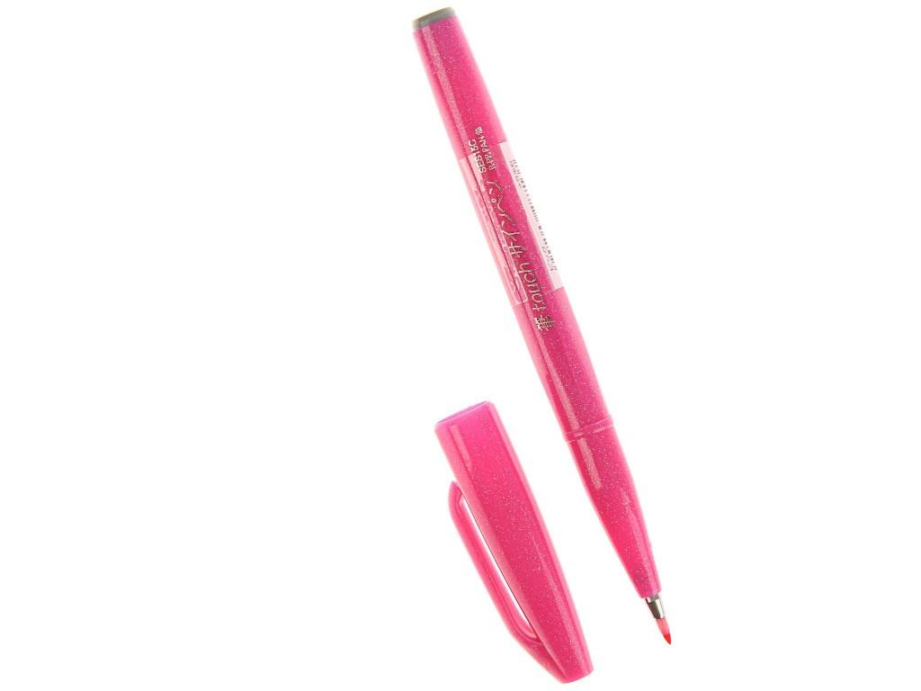 Купить Фломастер-кисть Pentel Brush Sign Pen Pink SES15C-P