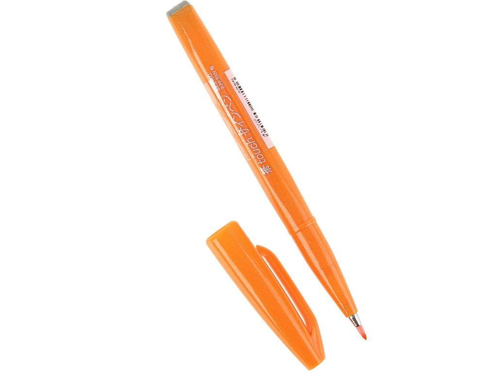 Купить Фломастер-кисть Pentel Brush Sign Pen Orange SES15C-F
