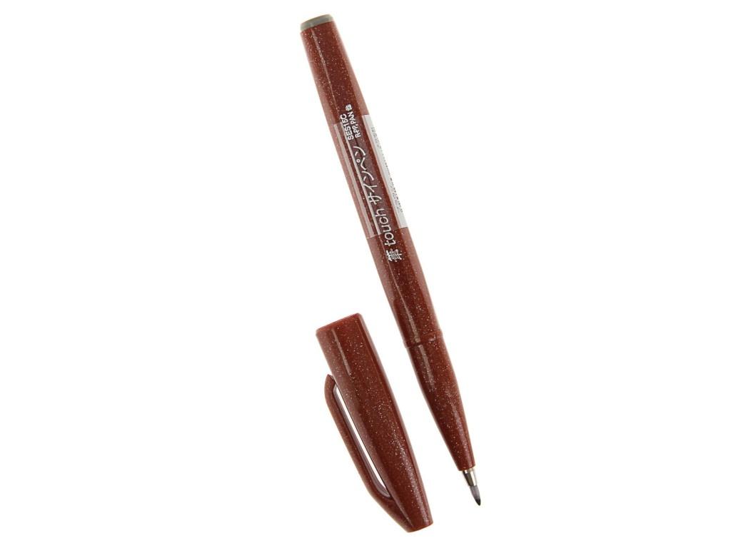 Купить Фломастер-кисть Pentel Brush Sign Pen Brown SES15C-E