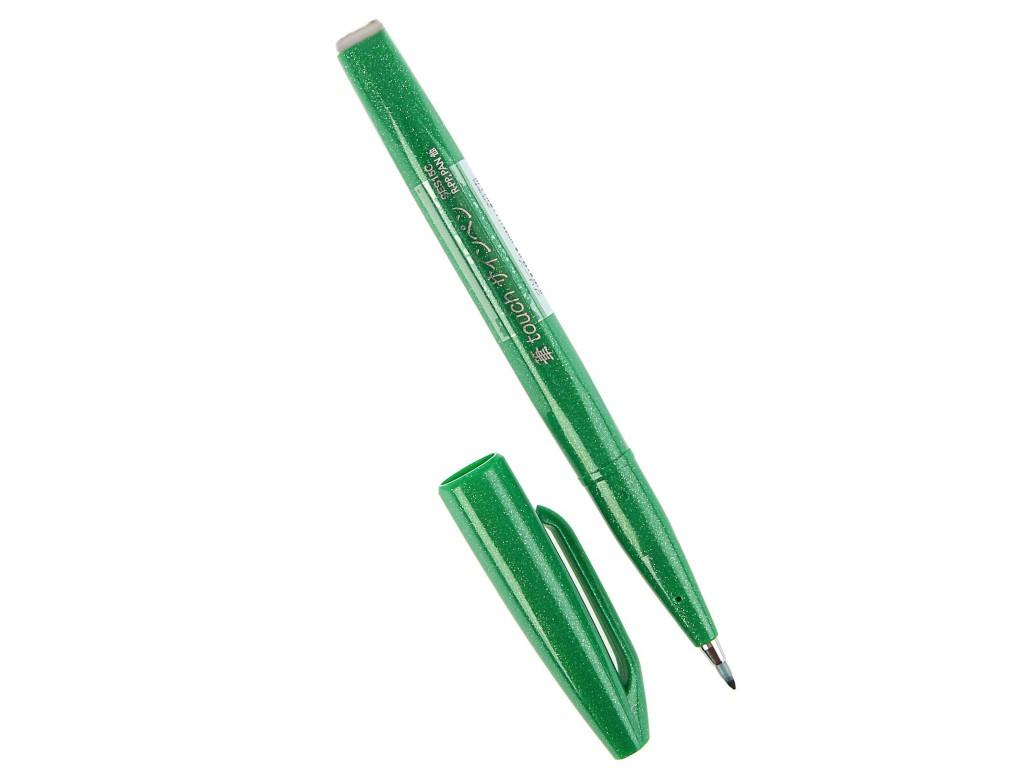 Купить Фломастер-кисть Pentel Brush Sign Pen Green SES15C-D
