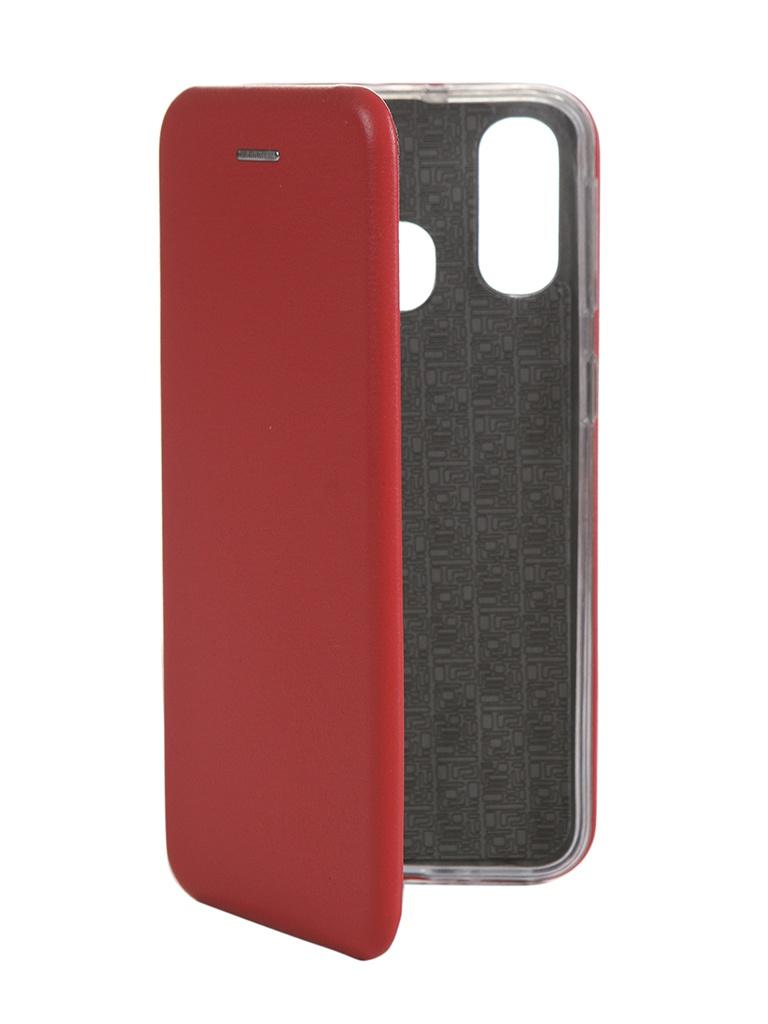 Купить Чехол Innovation для Samsung Galaxy A40 Book Silicone Magnetic Red 15551