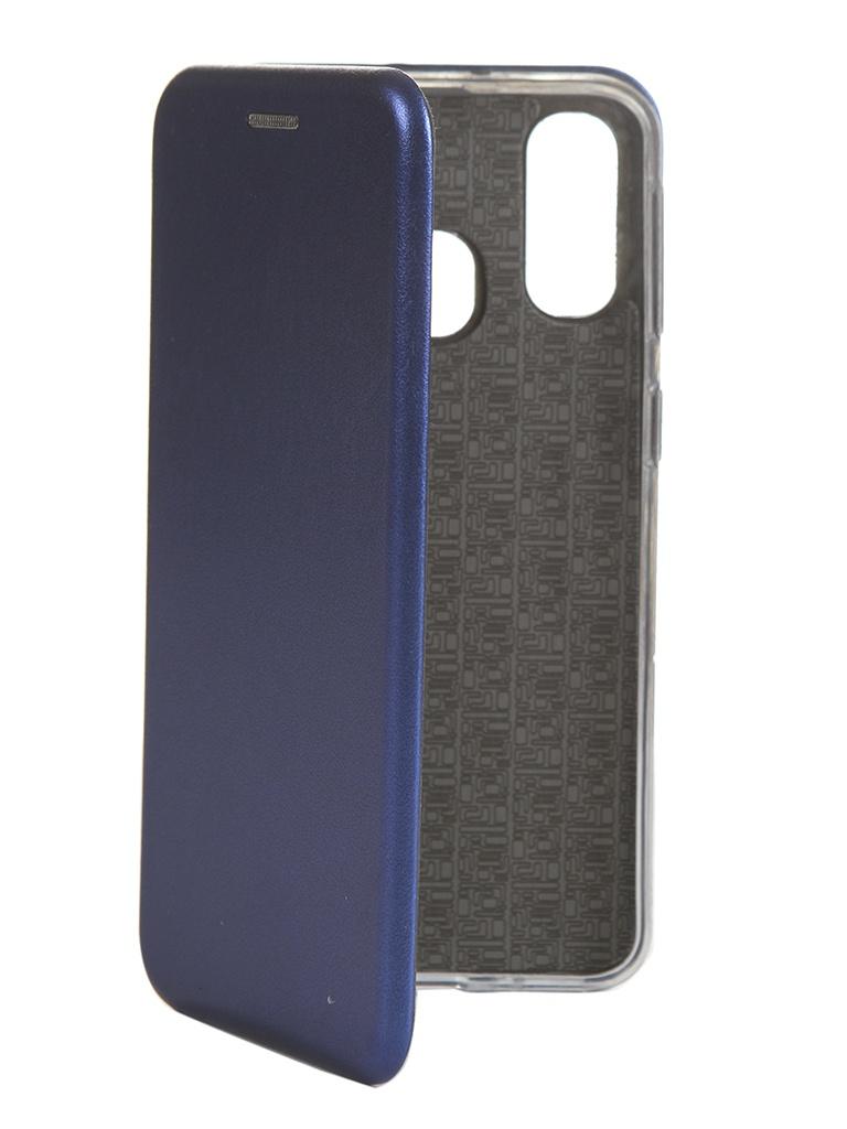 Купить Чехол Innovation для Samsung Galaxy A40 Book Silicone Magnetic Blue 15283