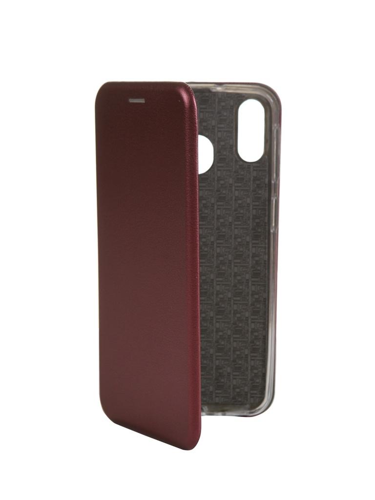 Чехол Innovation для Samsung Galaxy M20 Book Silicone Magnetic Bordo 15515