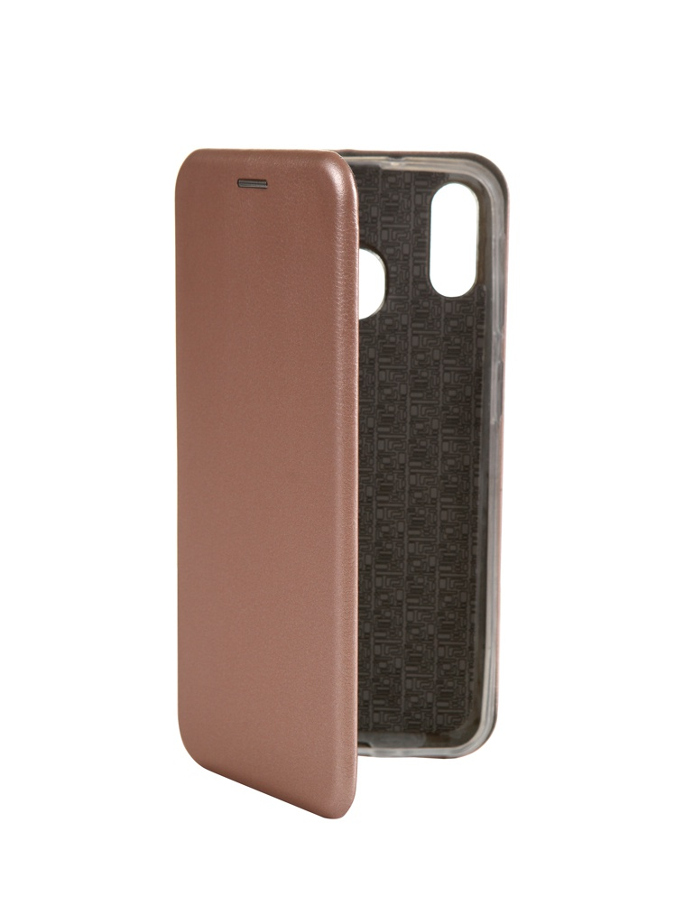 Чехол Innovation для Samsung Galaxy M20 Book Silicone Magnetic Rose Gold 15508