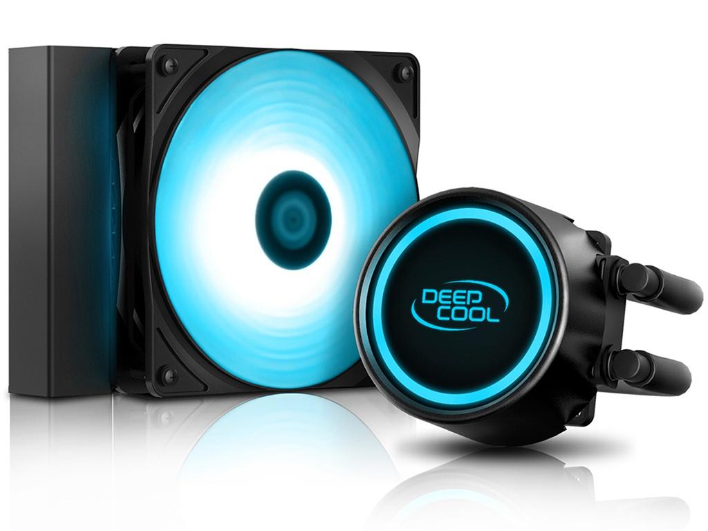 Водяное охлаждение DeepCool GAMMAXX L120T Blue (Intel LGA20/1366/115/AMD/AM4/AM3/AM2/FM/PWM/RET)