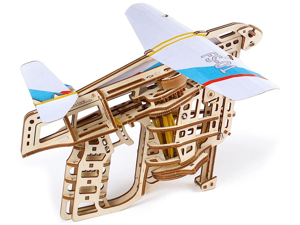 Конструктор UGears Пускатель самолетиков 70075