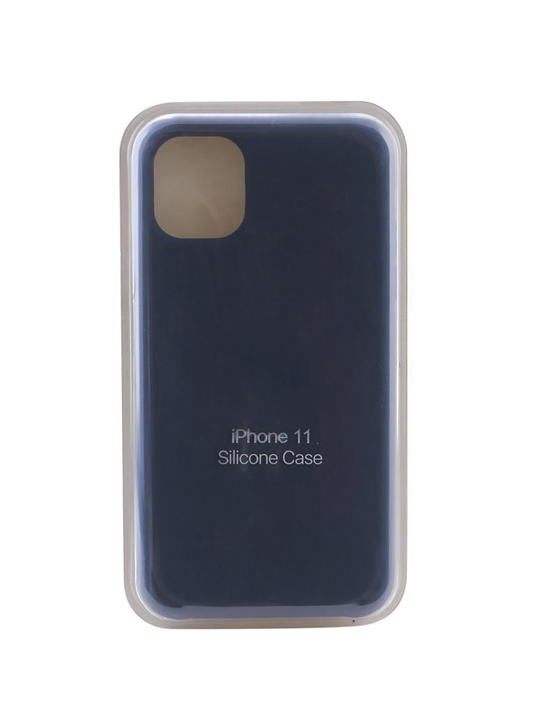 Купить Аксессуар Чехол Innovation для APPLE iPhone 11 Silicone Case Dark Blue 16459