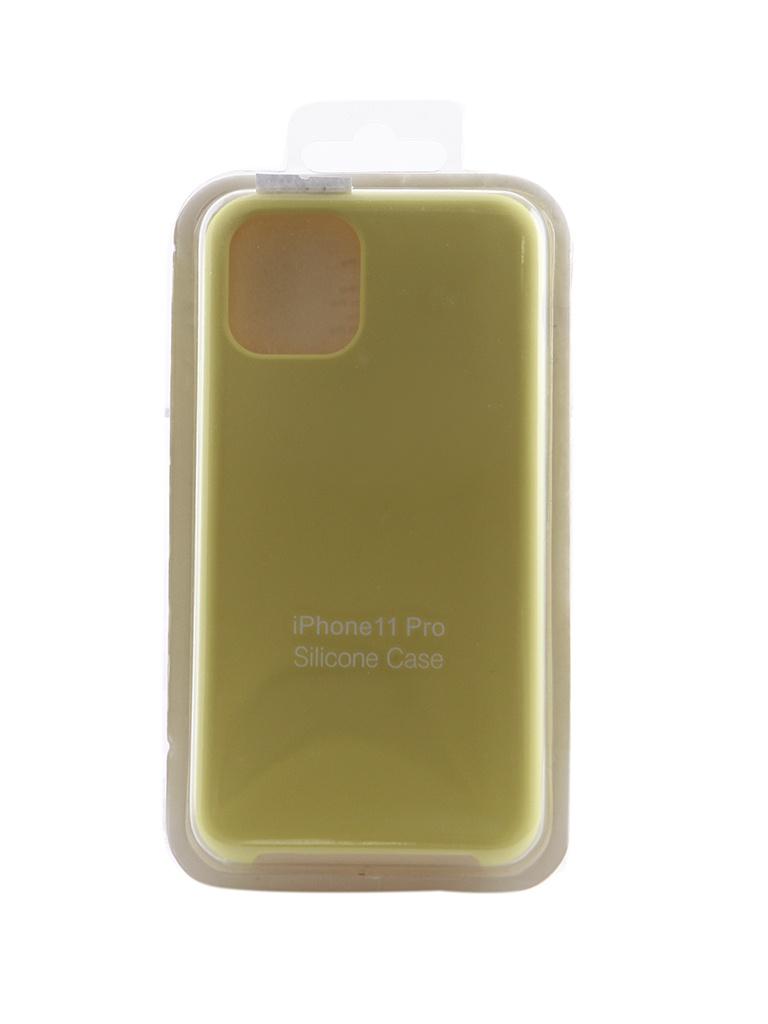 Чехол Innovation для APPLE iPhone 11 Pro Silicone Hot Yellow 16470