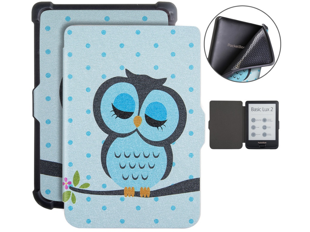 Аксессуар Чехол BookCase для PocketBook 606/616/627/628/632/633 Owl BC-632-owl