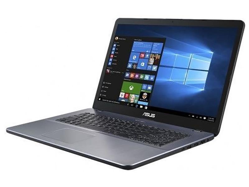 Купить Ноутбук ASUS VivoBook X705UB-GC265T Grey 90NB0IG2-M03510 (Intel Pentium 4417U 2.3 GHz/4096Mb/1000Gb/nVidia GeForce MX110 2048Mb/Wi-Fi/Bluetooth/Cam/17.3/1920x1080/Windows 10 Home 64-bit)