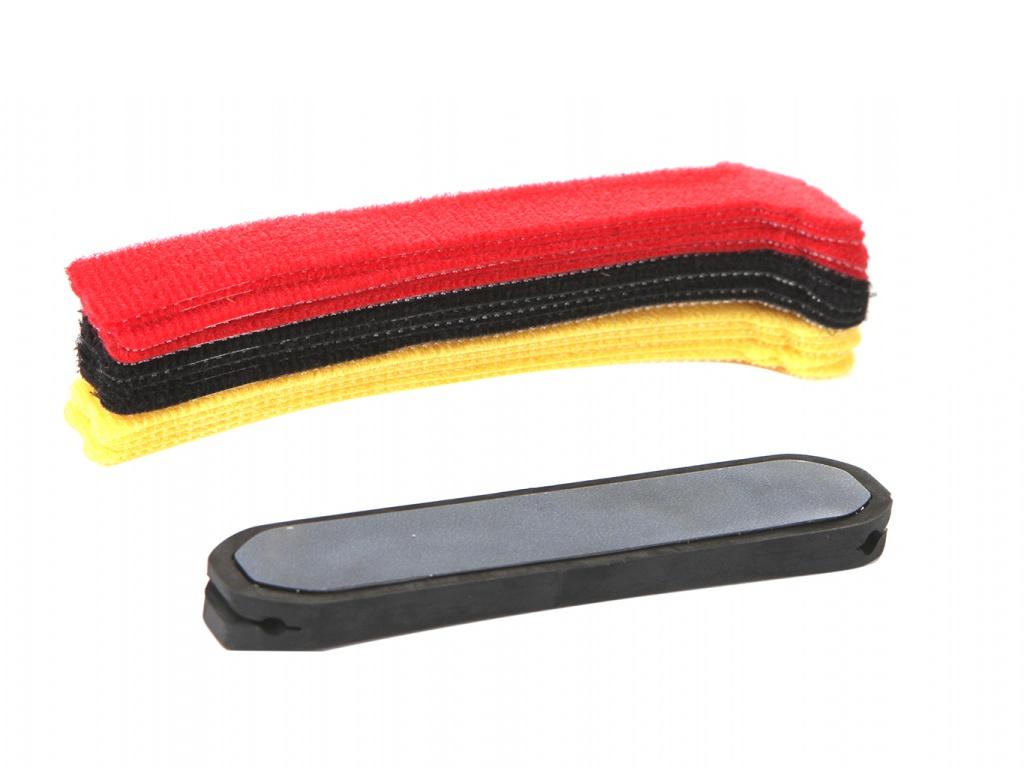 Держатель для кабеля Baseus Kaka Fixer Kit With LE Velcro Strap Black TZACGX-01