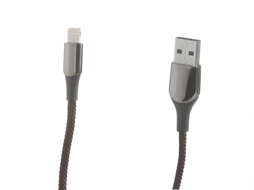 Аксессуар Baseus C-Shaped Light Intelligent Power-Off Cable Lightning 1m Black CALCD-01
