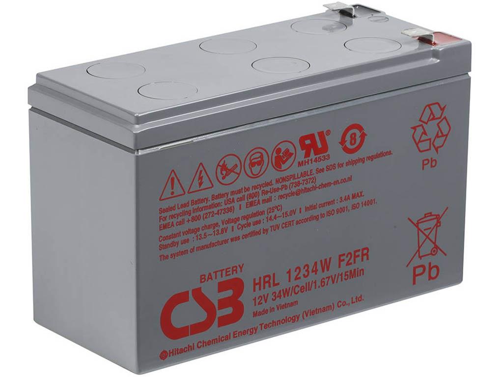 Аккумулятор для ИБП CSB HRL-1234W 12V 9Ah клеммы F2