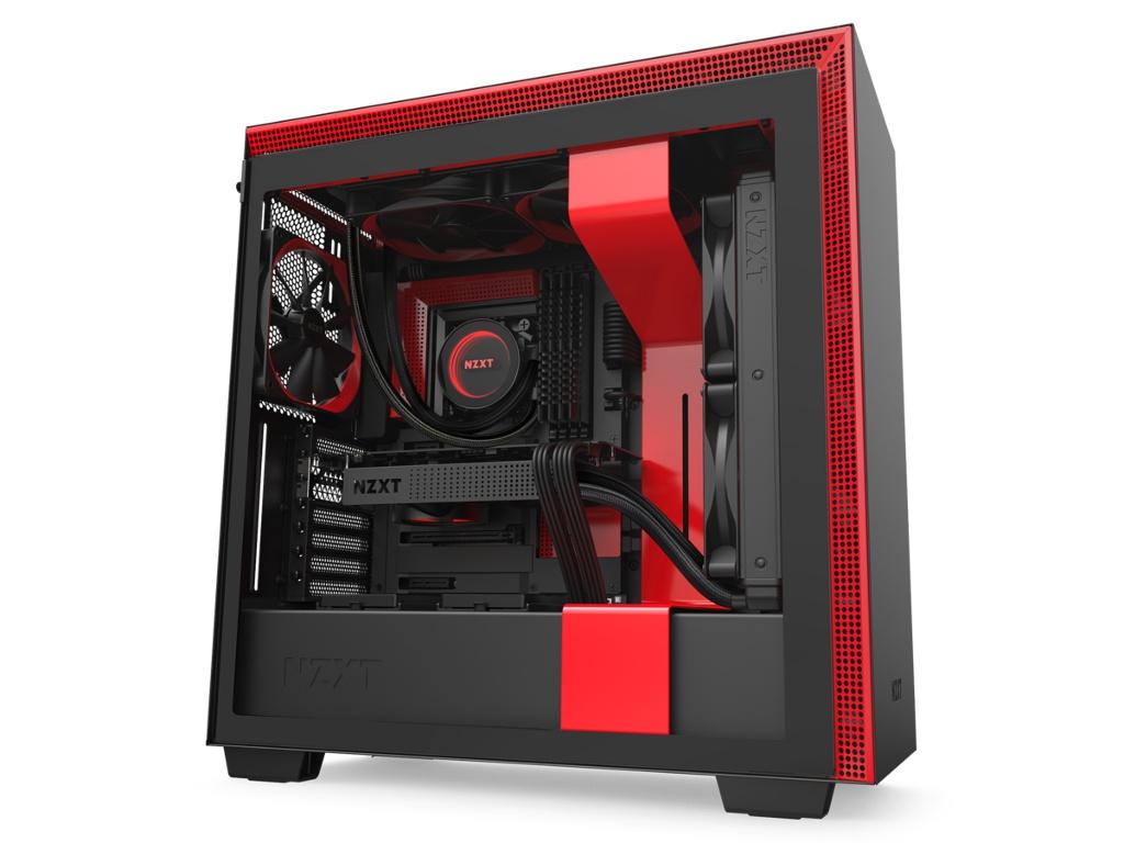 Корпус NZXT H710 Black-Red CA-H710B-BR