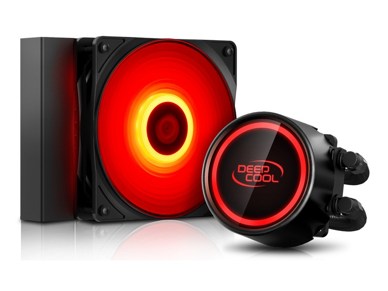Водяное охлаждение DeepCool Gammaxx L120T Red (Intel LGA20/1366/115/AMD/AM4/AM3/AM2/FM/PWM/RET)