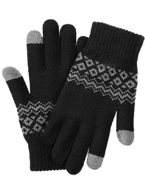 Теплые перчатки для сенсорных дисплеев Xiaomi FO Gloves Touch Screen р.UNI Warm Velvet Black