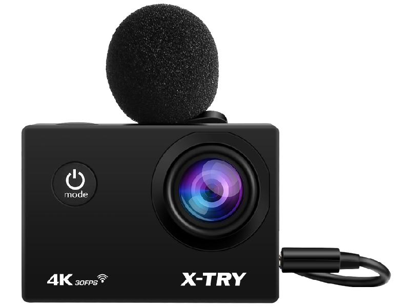Фото - Экшн-камера X-TRY XTC198 EMR 4K WiFi Black экшн камера r wings air 4k wifi rwc001
