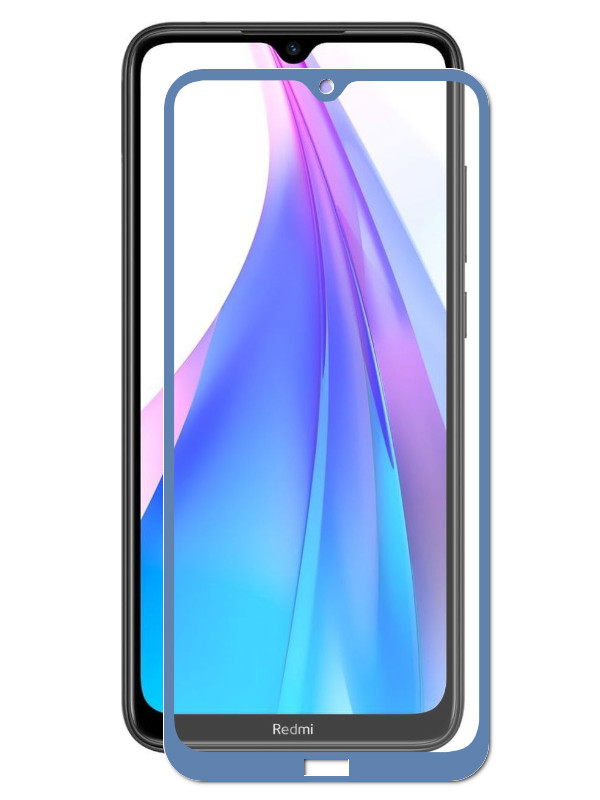 Защитный экран Red Line для Xiaomi Redmi Note 8T Full Screen Tempered Glass Glue Blue УТ000019214