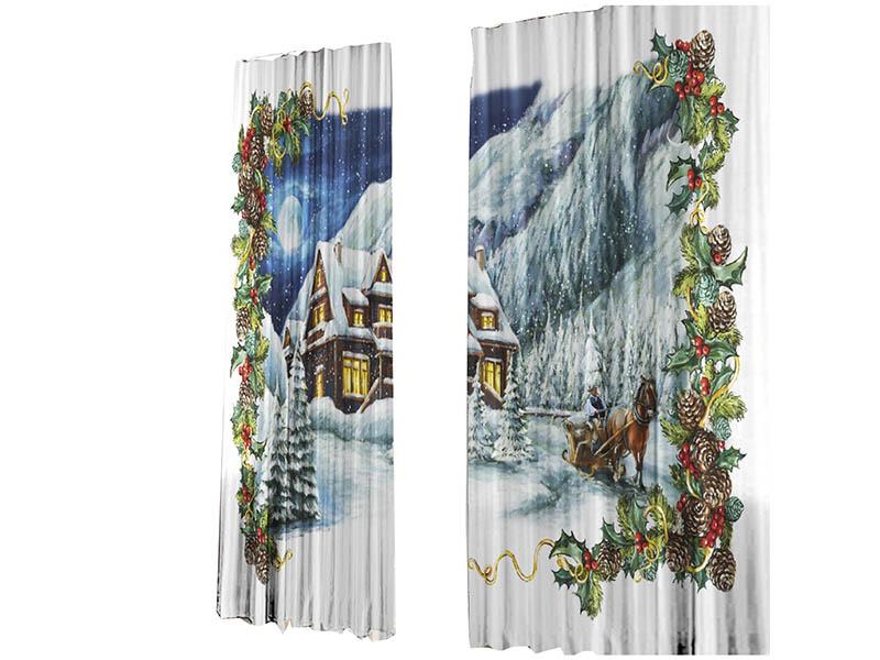 Купить Комплект штор Тамитекс Зимняя сказка 147x267cm 2шт 1639105