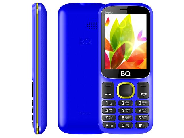 Сотовый телефон BQ 2440 Step L+ Blue-Yellow сотовый телефон bq 3590 step xxl black green