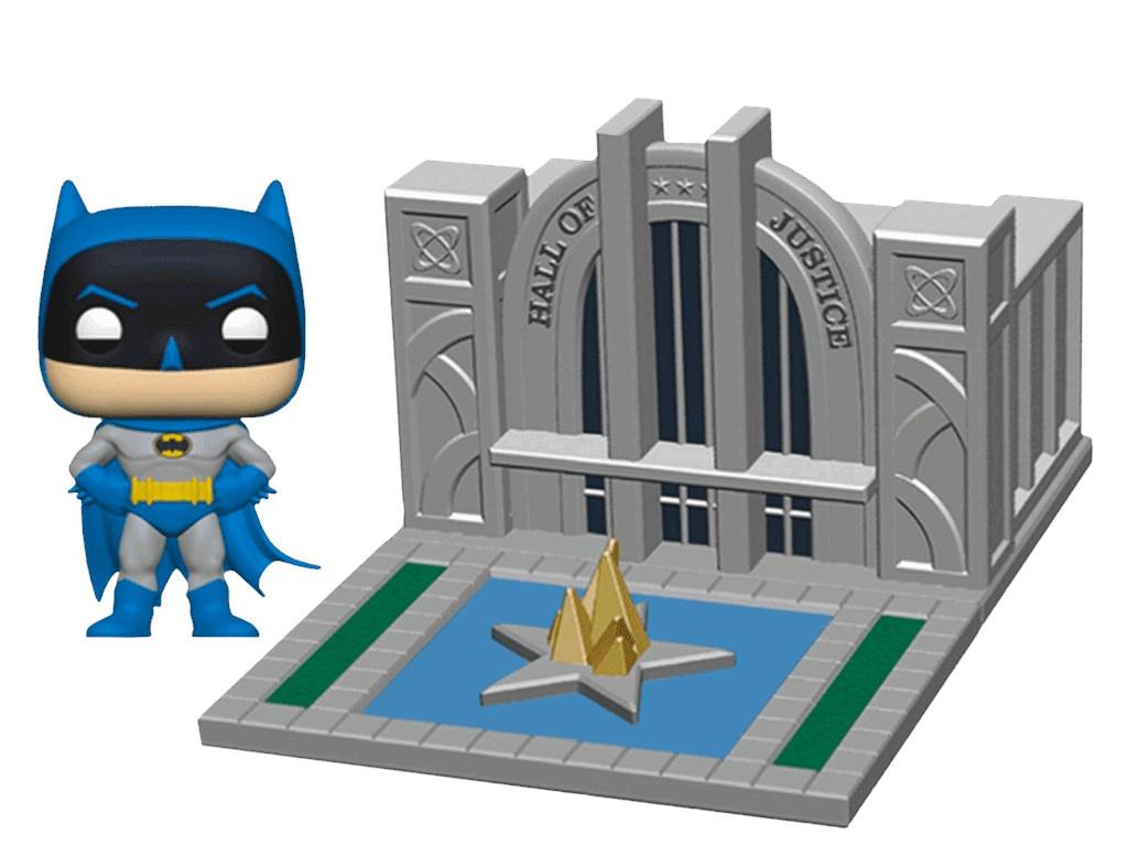 Купить Funko POP! Town: Batman 80th: Зал Справедливости 44469, Hall of Justice with Batman, США