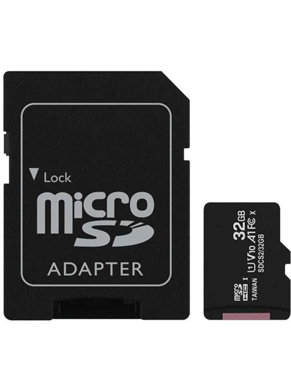 Фото - Карта памяти 32Gb - Kingston Micro Secure Digital HC Class10 UHS-I Canvas Select SDCS2/32GB с переходником под SD карта памяти micro securedigital 32gb kingston canvas select plus sdhc class 10 uhs i sdcs2 32gb sd адаптер